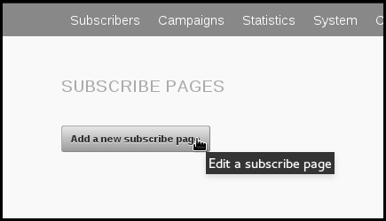 create a subscribe page phpList