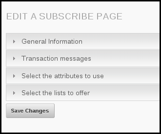 structure of edit a subscribe page system phpList
